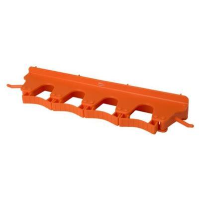 Держатель для уборочного инвентаря настенный Vikan 10187 полипропилен оранжевый (длина 395 мм)