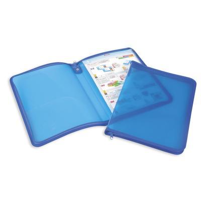 Папка-конверт на молнии Attache A4 голубая 500 мкм (молния с 3-х сторон, с отделением)