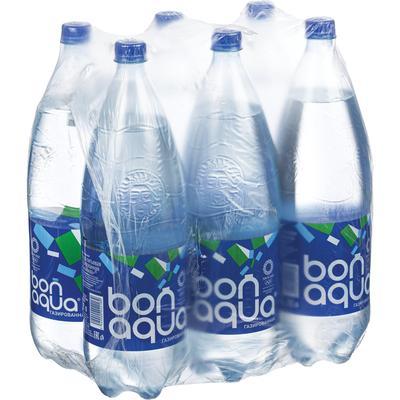 Вода питьевая BonAqua газированная 2 л (6 штук в упаковке)