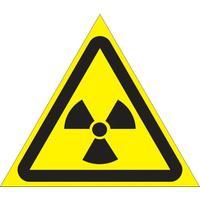 Знак безопасности Опасно! Радиоактивные вещества/ионизирующее излучение W05 (200 мм, пленка)