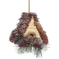 Новогоднее украшение Домик (высота 13 см)