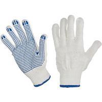 Перчатки рабочие трикотажные с ПВХ Точка 6 нитей 10 класс 62 г (ручной оверлок)