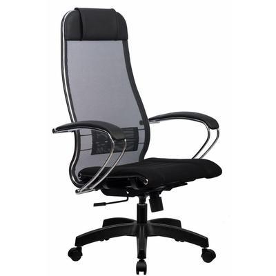 Кресло для руководителя Metta 3 черное (сетка/ткань, пластик)