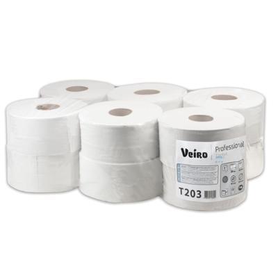 Бумага туалетная в рулонах Veiro Professional Q2 Comfort 2-слойная 12 рулонов по 200 метров (артикул производителя T203)