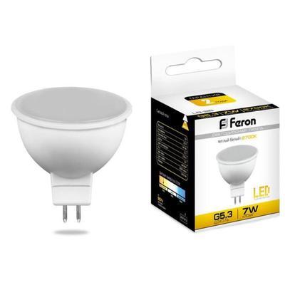 Лампа светодиодная Feron 7 Вт G5.3 спот 2700 К теплый белый свет