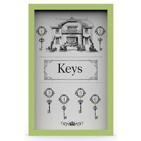 Ключница Ключи 29x45 см массив дерева зеленый KD-041-024