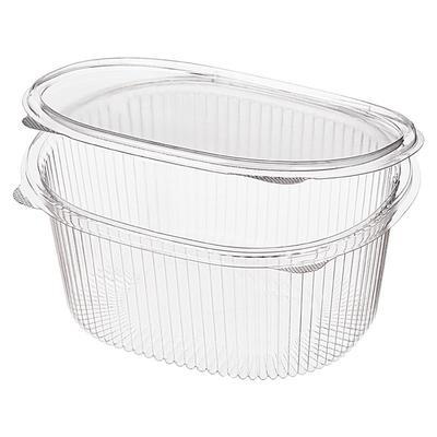 Одноразовый пластиковый контейнер Комус РКС-1000 (Т) для салатов 1000 мл прозрачный (270 штук в упаковке)
