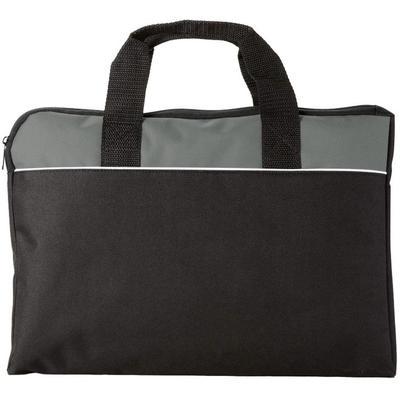 Конференц-сумка для документов Tampa полиэстер черная/серая (38x2.5x28 см)