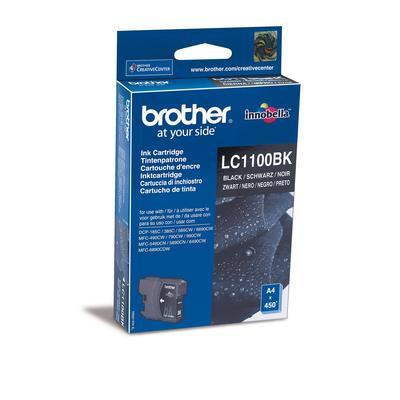 Картридж струйный Brother LC1100BK черный оригинальный
