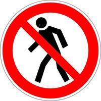 Знак безопасности Проход запрещен P03 (200х200 мм, пленка ПВХ)
