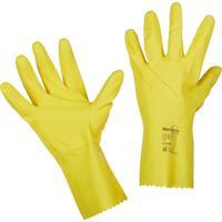 Перчатки Manipula Specialist Блеск L-F-01 из латекса желтые (размер 9-9.5, L)