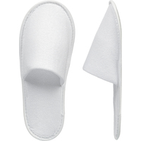 Тапочки одноразовые махровые/спанбонд закрытый мыс подошва ЭВА 3 мм белые Стандарт 100 пар в упаковке