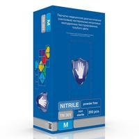 Перчатки медицинские смотровые нитриловые S&C TN301 нестерильные неопудренные голубые размер M (200 штук в упаковке)