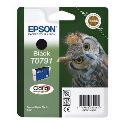 Картридж струйный Epson T0791 C13T07914010 черный оригинальный повышенной емкости
