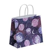 Пакет подарочный из крафт-бумаги Space (22x25x12 см, 12 штук в упаковке)