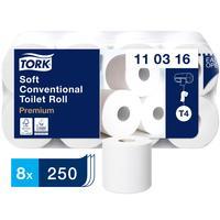 Бумага туалетная Tork Premium 110316 Т4 3-слойная белая (8 рулонов в упаковке)