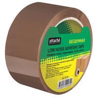 Клейкая лента упаковочная Attache Selection 50 мм x 66 м 48 мкм коричневая (бесшумная)