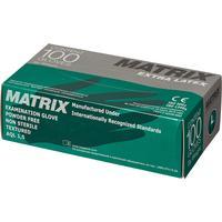 Перчатки медицинские смотровые латексные Matrix Extra текстурированные нестерильные неопудренные размер L (100 штук в упаковке)