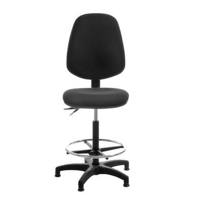 Кресло кассира Гранд HLR высокая база черное (ткань/пластик)