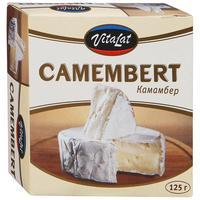 Сыр Vitalat камамбер с белой плесенью 45% 125 г