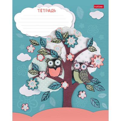 Тетрадь школьная Hatber Совушки А5 12 листов в клетку (обложка в ассортименте)