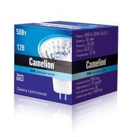 Лампа галогенная Camelion MR16 50W GU5.3,с защ.стеклом,12В 3060