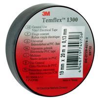 Изолента 3M Temflex 1300 ПВХ 19 мм x 20 м черная