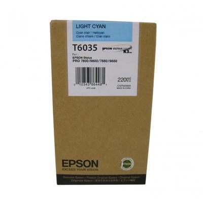 Картридж струйный Epson T6035 C13T603500 светло-голубой оригинальный