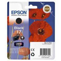 Картридж струйный Epson 17 C13T17014A10 черный оригинальный