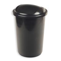 Ведро для мусора с крышкой-вертушкой Uniplast 12 л пластик черное (25х38 см)