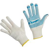 Перчатки рабочие Комус трикотажные с ПВХ Точка 5 нитей 10 класс (размер 9, L, 5 пар в упаковке)