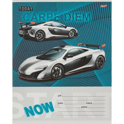 Тетрадь школьная Проф-пресс Спортивные машины А5 18 листов в клетку (обложка в ассортименте)
