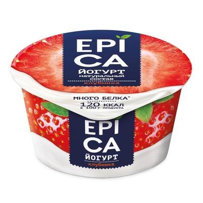 Йогурт Epica с клубникой 4.8%130 г