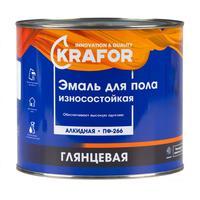Эмаль для пола Krafor ПФ-266 желто-коричневая глянцевая 1.9 кг