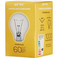 Лампа накаливания Старт 60 Вт E27 шаровидная прозрачная 2700 К теплый белый свет (10 штук в упаковке)