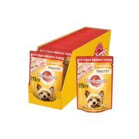 Корм для собак мелких пород влажный Pedigree С курицей паштет 80 г (24 штуки в упаковке)