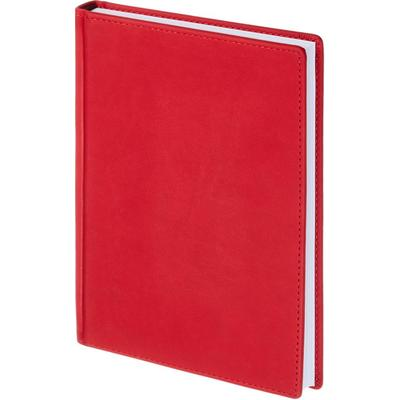 Ежедневник недатированный Альт Velvet искусственная кожа Soft Touch A5+ 136 листов красный (146х206 мм)