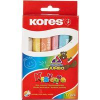 Мелки восковые Kores Krayones Jumbo трехгранные 12 цветов