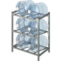 Стеллаж для бутилированной воды Бомис-6Л на 6 тар по 19л металлик