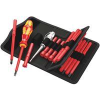 Набор отверток насадок диэлектрических с рукояткой Wera 18 предметов WE-003471