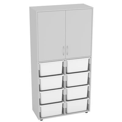Шкаф подкатной Точка Роста комбинированный (серый, 910х400х1800 мм)