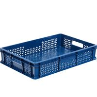 Ящик (лоток) универсальный из ПНД 600х400х120 мм синий