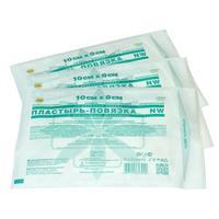 Пластырь-повязка Leiko 10x8 см (50 штук в упаковке)
