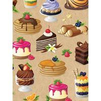 Бумага упаковочная Miland Твой десерт (10 листов в рулоне, 70x100 см)