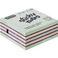 Стикеры Attache Selection Радуга 76х76 мм пастельные и неоновые 3 цвета (1 блок, 400 листов)