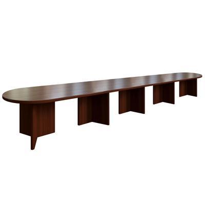 Стол для переговоров Sorbonne (темный орех, 7000x1000x760 мм)