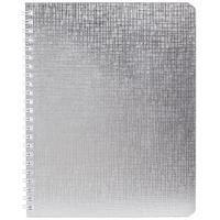 Бизнес-тетрадь Hatber Metallic А5 96 листов серебристая в клетку на спирали (148x210 мм)