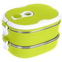 Термо ланч-бокс двойной Bradex Bento зеленый 1.5 л