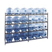 Стеллаж для бутилированной воды Бомис-24 на 24 тары по 19л металлик