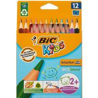 Карандаши цветные Bic Kids Evolution 12 цветов трехгранные